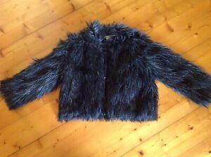 Shaggy/fluffy Jacket.Sydney designer toi et moi (you & me)size10/38