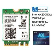 Intel AX200 NGFF M.2 WiFi Card 802.11ax WiFi 6 Wireless MU-MIMO Bluetooth 5.0