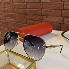 New Cartier Sunglasses Gold Frame Gradient gray Lens