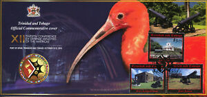 Trinidad & Tobago 2016 FDC CDMA Historic Forts & Cannons 3v Set Cover Stamps