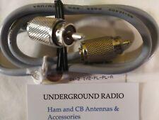 8X 2.5' H/D Connectors HAM CB Commercial Base COAX JUMPER PL-259 US-made 1.5+KW