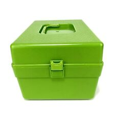 Vintage Wilson Wil-Hold Plastic Sewing Pattern Storage Box w/ 4 Dividers Green