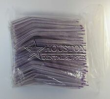200 Disposable Dental Air water Airwater Syringe Tips Clear Plastic Lavender Tip