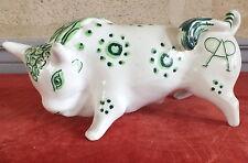 taureau  ceramique années 50 . ceramic bull  tauromachie . toro Miura . taurus .