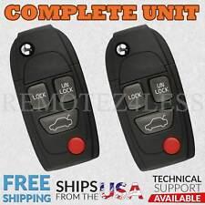 2 For 1999 2000 2001 2002 2003 2004 2005VolvoS80 Keyless Entry Remote Flip Key
