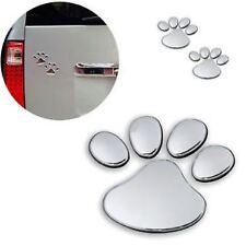 3D Metal Car Window Bumper Body Decal Sticker Bear Cat Dog Paw Foot Prints