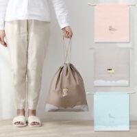 Travel Drawstring Laundry Clothing Shoe Organizer Storage Bag Pouch Tote Bag