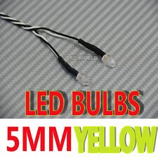 RC LED BULBS Pair On One Line 5mm YELLOW