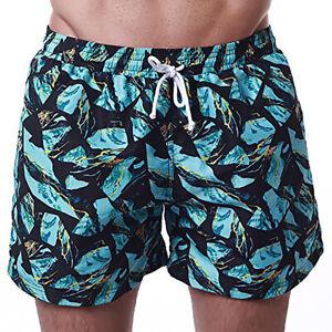 MZ Garment Men's Swim Trunks with Mesh Lining & Pockets for Beach Bathing Green