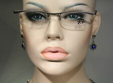 Unworn ZENKA 'Movi 2B' Gray Semi Rimless Eyeglasses Optical Glasses Frames Large