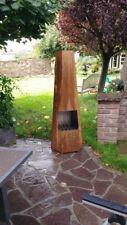 Terrassenofen Rostoptik Design Gartenkamin 160x54x54cm Stahlkamin Feuerstelle