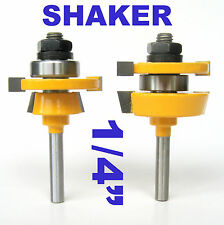 "2pc 1/4"" Shank Shaker Bevel Rail & Stile Router Bit Set sct-888"
