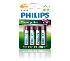 Pilas Philips recargable AA 2100mah Ni-MH pack 4U 2100aa