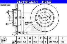 1X BRAKE DISC ATE - TEVES 24.0110-0337.1