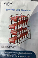 Nex 2 Pack Stackable Soda Can Beverage Dispenser Rack Organizer Holds 24 Cans