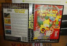 Sega Megadrive Simpsons Krusty's Fun house Complete Nice !!! boxed inc Manual