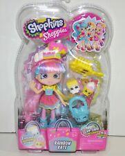 Shopkins Shoppies Rainbow Kate Collectible Doll w/2 Exclusive Shopkins VIP Card