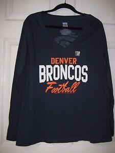 Junk Food Womens NFL Denver Broncos Vneck Shirt, Size Large, New w/o Tags