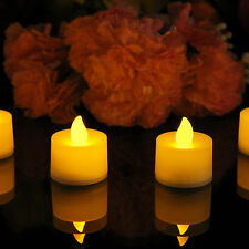 4 Flameless Flickering LED Battery Tea Light Candles by PK Green
