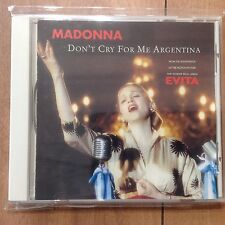 Madonna Don't Cry For Me Argentina CD Japan WPCR-947 1997 4tracks EVITA