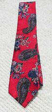 Vintage '80s' Mens Neck Tie Ideas Paisley Red/Pink/Blue