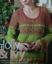 Ladies Christmas Festive Bead Edged Sweater DK KNITTING PATTERN - Sizes 8-22