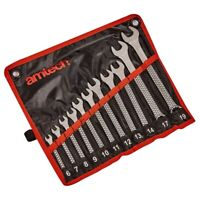11pc METRIC COMBINATION SPANNER SET by Amtech 6mm to 19mm wrench in roll