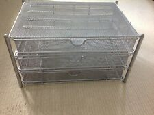 Silver Mesh filing drawers