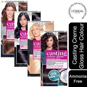 1pk or 2pk L'Oreal Paris CastingCremeGloss Semi-Permanent HairDye With NoAmmonia