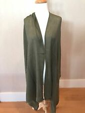 "CASHMERE Fine Wool OLIVE GREEN Long Scarf Shawl Wrap 82x28"" NWT"