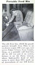 Orig 1947 Handy Farmer Ad Edgar Grimes Linn County Oregon PORTABLE FEED BIN