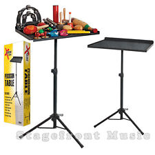 PERCUSSION LAPTOP MIXER TRAP TABLE STAND HEAVY DUTY. HEIGHT ADJUSTABLE - NEW