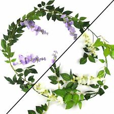 Ivory Wisteria Garland With 5 30cm Drops Wholesale Artificial Flowers Fake Pack of 5