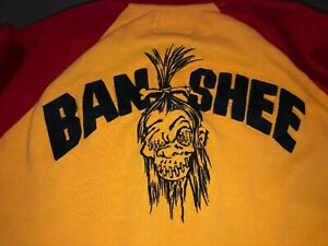 •LUCKY BRAND Banshee Zip Sweatshirt Jacket pullover hoodie mens Small Yellow Red