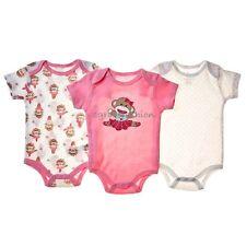 Baby Starters Girls Sock Monkey Ballerina Tutu Layette 3 Pack Bodysuit Set 0-3M
