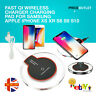 Wireless Charger Charging Pad For Samsung Apple iPhone Xs Xr S8 S9 S10 Fast Qi