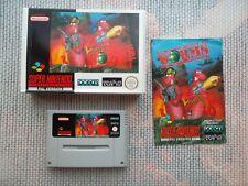 Jeu Super Nintendo / Snes Game Worms Complet PAL Ukv CIB original retrogaming *