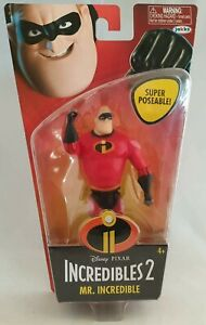 JAKKS Incredibles 2 Mr Incredible Action Figure Super Poseable Disney Pixar
