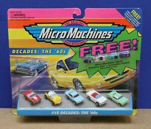 Micro Machines 64630 #12 Decades The '60s 5 Car Set MOC 1994 Sealed w/4 Minis