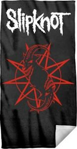 New Slipknot Goat Tarot Beach Bath Pool Gift Towel Punk Rock Band Black CD Cover