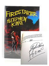Stephen King FIRESTARTER Signed Limited First Edition Illustrated Slipcased 710