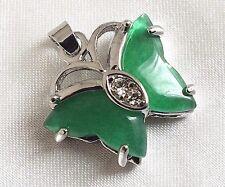 CINESE Giada Verde Collana Con Ciondolo A Farfalla COMPLEANNO capodanno DONNA FESTA D2