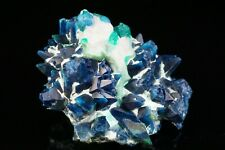 AESTHETIC Shattuckite after Calcite with Dioptase Crystal TANTARA MINE, CONGO