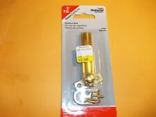 National Hardware 2 inch surface bolt, brass, locking doors, cabinets