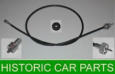 """39"""" TACHOMETER Tacho REV COUNTER CABLE & GROMMET for LHD RILEY 1.5 1957-65"""