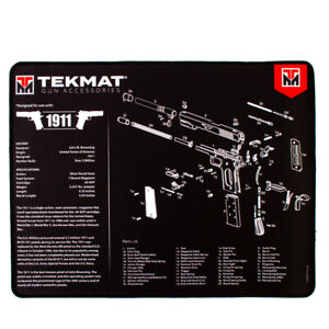 Ultra Thick Handgun Cleaning Mat with Exploded Diagrams, choice, w/FREE gun wipe