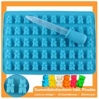 50 Gummibärchen mit Pipette Form Schokoladen Silikonform Eiswürfelform Fondant