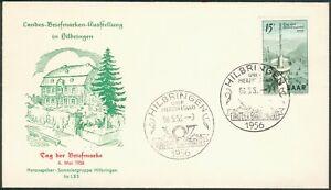 Saarland FDC Mi.-Nr.369 Landes-Briefmarken-Ausstellung in Hilbringen 6.5.1956