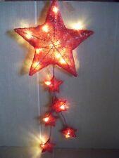 LED Sterne roter Zauber 6 Sterne 15 LED`S