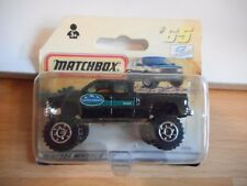 Matchbox Chevy SIlverado Pick-up 4x4 in Black on Blister